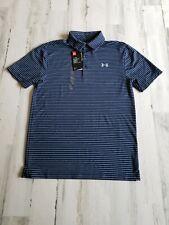 Under Armour Heatgear Striped Golf Polo 1253479-410 Men's Size S