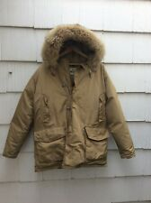 Vintage Woolrich ARCTIC PARKA Goose Down Hooded Mountain Coat Jacket Large