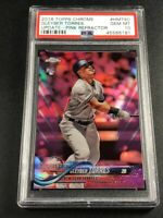 GLEYBER TORRES 2018 TOPPS CHROME UPDATE #HMT80 PINK REFRACTOR ROOKIE RC PSA 10