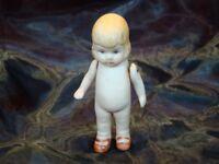 Pantin Figurine Articule Bebe Style Art Deco Style Art Nouveau Porcelaine Emaux