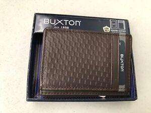 Buxton Men's Bellamy RFID Blocking Leather Front Pocket Get-Away Wallet BE948