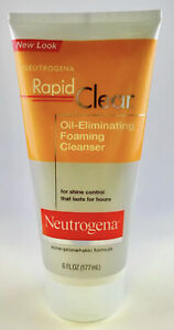Neutrogena Rapid Clear Oil Eliminating Foaming Cleanser 6 oz Acne Prone Wash
