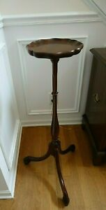 KEMS Solid Mahogany Pedestal Plant  or Candle Stand No. 4-4664