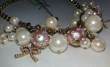 Betsey Johnson Rare! Jewelry Bauble Pearl Necklace Vintage NWOT