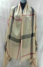 Womens Ladies Winter Warm Tartan Check Neck Long Shawl Scarf Wrap Stole Plaid