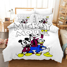 3D Disney Mickey Mouse Bedding Set Duvet Cover Pillowcase Comforter/Quilt Cover