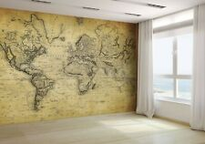 Vintage Map of the World 1814 Wallpaper Mural Photo 15317377 budget paper