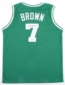 Dee Brown Signed Celtics Jersey (PSA Hologram)Boston's 1990 1st Round Pk / Guard