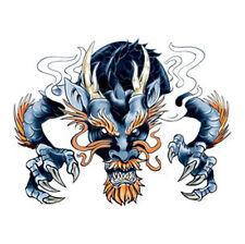 Dragon Ink Tattoos, Blue Bearded Dragon, Made in USA, Temporary Tattoo