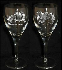 AUSTRALIAN SHEPHERD GIFT - Boxed PAIR WINE GLASS *DOG GIFT*