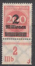 Imperio alemán MINR. 309 AP a ur dz ** impresora caracteres IIIB bpp examinado fleiner