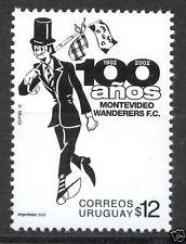 Soccer football team of uruguay centenary Wanderers comic Sc#1956 MNH STAMP cv$2