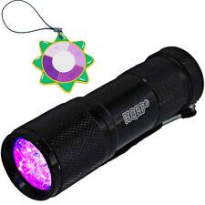 HQRP Fluorescent Flashlight Mineral Rocks Long Wave Lamp Black Light +UV Meter