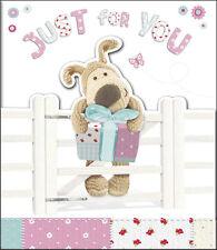 """Boofle """"JUST FOR YOU"""" Compleanno Carta pieghevole Pretty cartoline d'auguri il suo nuovo"""
