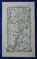 Rare antique road map, SCOTLAND, ROXBURGH, LAUDER, BERWICKSHIRE, Armstrong, 1776