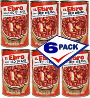 Ready to Eat El Ebro Small Red Beans Potage Bacon and Sausage 15 oz Pack 6