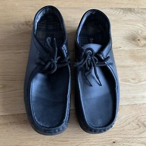 Faux Leather Wallabees 8uk Black (Not Clarks)
