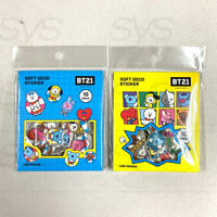 BTS BT21 Official Authentic Goods Soft Deco Sticker Ver2 10P X 2SET by Kumhong