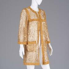 Chanel gold mesh coat with sequins Lot 2152