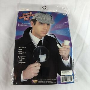 Sherlock Holmes Forum Great Detective Costume Accessory Kit, One Size - READ