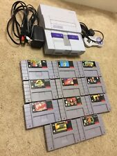 Super Nintendo SNES Console w/ 11 Good Games, Mario, Disney, Aladdin, Toy Story