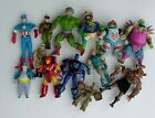 Mixed Vintage Figures Lot. MOTU, TMNT, Iron Man, Robotech & Others. Used