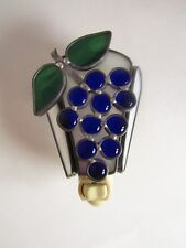 New! Stained Glass Night Light Grapes Plug In Night Lite Handmade