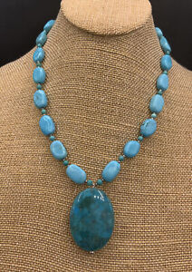 Barse Athena Necklace- Turquoise & Sterling Silver- NWT