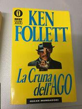 LIBRO LA CRUNA DELL'AGO KEN FOLLETT MONDADORI 1996 come nuovo