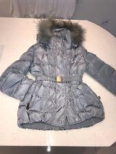 ae77c951915f6 Monnalisa Girls Age 7 Coat Blue Fur Hood