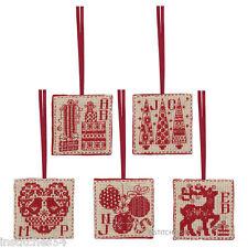 Anchor Christmas Craft Cross Stitch Kit Christmas Tags