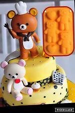 Bear Heart Baking Fondant Silicone Cake Sugar Craft New Mold Mould DIY Soap Ice