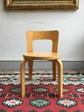 Alvar Aalto child's chair, vintage modernist bentwood plywood 1960s mid century