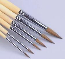 XDT#966 Round Tip Liner Artist Paint Art Brush 6pc SableMixed Acrylic Watercolor