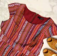 752ac69e02f Ladakh striped multicolor dress cap sleeve above the knee XS