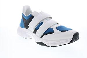 Calvin Klein Dallen Smooth Calf Leather Neoprene Mens White Designer Sneakers