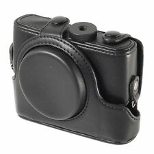 Leather Camera Case Bag Cover Faux PU for Sony Cybershot RX100 Black LF193B