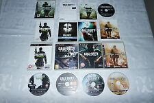 PS3 CALL OF DUTY 5 GAMES BUNDLE GHOSTS MW2 MW3 COD 4 BLACK OPS