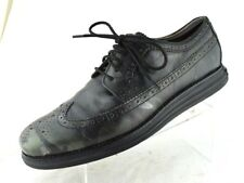 Cole Haan Lunargrand Wingtip Black Camo Leather Longwing Brogue Shoe Men's 10  M