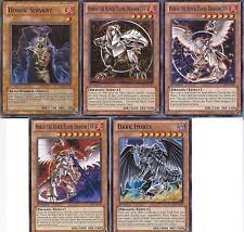 Horus The Black Flame Dragon LV4 + LV6 + LV8 +Servant + Dark Horus - Common