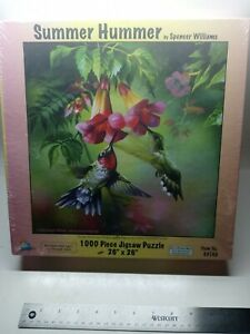 """Summer Hummer 1000 Piece Jigsaw Puzzle 26"""" x 26"""" by Spencer Williams NEW Sealed"""