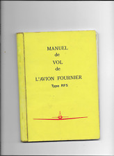 FOURNIER  type  RF 5   manuel de vol