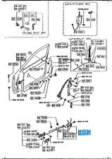 MAZDA RX-7 RX7 FC3S 1986-1992 Front Door Lock Assy Right & Left set OEM Genuine