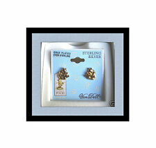 DISNEY CLASSIC POOH GOLD OVER STERLING SILVER POOH BEAR STUD EARRINGS - ALL AGES