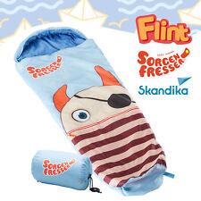 Skandika Sorgenfresser Flint Schlafsack für Kinder 170cm -12°C blau Packsack NEU
