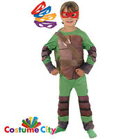 Childs Boys Official Teenage Mutant Ninja Turtles Fancy Dress Party Costume