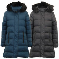 Girls Long Parka Bubble Jacket Brave Soul Kids Coat Padded Hoodie Fur Quilted