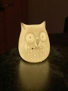 Tiziano Keramik Eule  beleuchtet mit LED NEU