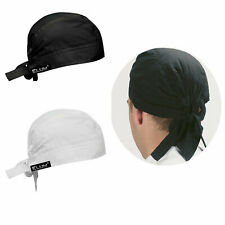 More details for unisex kitchen thermo cool chefs bandanna cap adult head protective back tie cap