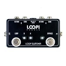 2 Loop Switcher Bypass Pedal - True Bypass - Loopi Pedals